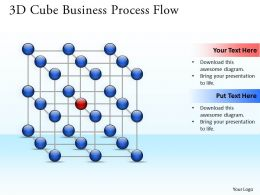 Business PowerPoint Templates 3d cube process flow Sales PPT Slides