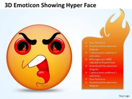 Business PowerPoint Templates 3d emoticon showing hyper face Sales PPT Slides