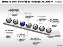 business_powerpoint_templates_3d_horizontal_illustration_through_an_arrow_7_stages_sales_ppt_slides_Slide06