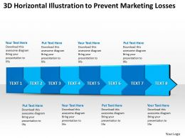 Business PowerPoint Templates 3d horizontal illustration to prevent marketing losses eight steps Sales PPT Slides