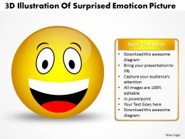 Business PowerPoint Templates 3d illustration of surprised emoticon picture Sales PPT Slides