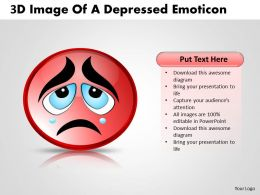 Business PowerPoint Templates 3d image of depressed emoticon Sales PPT Slides