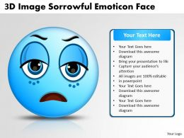 Business PowerPoint Templates 3d image sorrowful emoticon face Sales PPT Slides