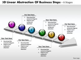 Business PowerPoint Templates 3d linear abstraction of steps 6 stages Sales PPT Slides
