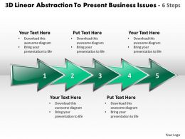 Business PowerPoint Templates 3d linear abstraction to present issues six steps Sales PPT Slides