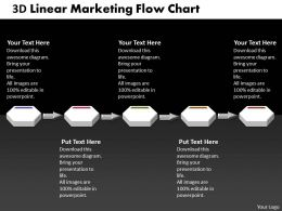 Business PowerPoint Templates 3d linear marketing flow process charts Sales PPT Slides