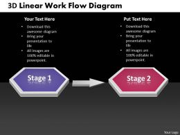 Business PowerPoint Templates 3d linear work flow diagram Sales PPT Slides