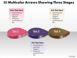 Business PowerPoint Templates 3d multicolor arrows showing three state diagram ppt Sales Slides