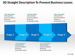 Business PowerPoint Templates 3d straight description to prevent losses five steps Sales PPT Slides