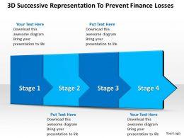 Business PowerPoint Templates 3d successive representation to prevent finance losses four steps Sales PPT Slides