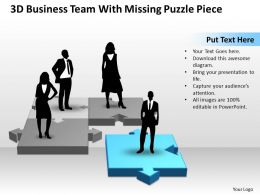 Business PowerPoint Templates 3d team with missing puzzle piece Sales PPT Slides