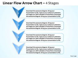 Business PowerPoint Templates 4 phase diagram ppt linear flow arrow chart Sales Slides