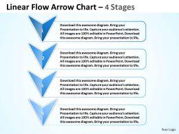 Business PowerPoint Templates 4 phase diagram ppt linear flow arrow chart Sales Slides