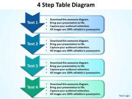 Business PowerPoint Templates 4 step table diagram editable Sales PPT Slides 5