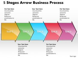 Business PowerPoint Templates 5 state diagram ppt arrow process Sales Slides 5 Stages