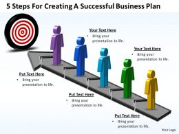 Business PowerPoint Templates 5 steps for creating successful plan Sales PPT Slides
