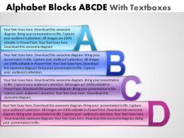Business PowerPoint Templates alphabet blocks abcd with textboxes Sales PPT Slides