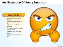 Business PowerPoint Templates an illustration of angry emoticon Sales PPT Slides