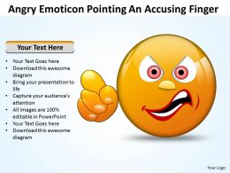 Business PowerPoint Templates angry emoticon pointing accusing finger Sales PPT Slides