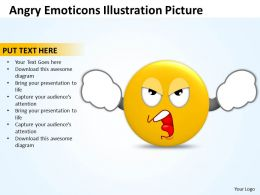 Business PowerPoint Templates angry emoticons illustration picture Sales PPT Slides