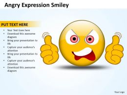 Business PowerPoint Templates angry expression smiley Sales PPT Slides