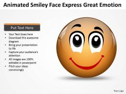 Business PowerPoint Templates animated smiley face express great emotion Sales PPT Slides