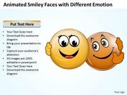 Business PowerPoint Templates animated smiley faces with different emotion Sales PPT Slides