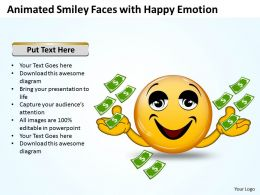 Business PowerPoint Templates animated smiley with happy emotion Sales PPT Slides