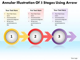business_powerpoint_templates_annular_illustration_of_3_stages_using_arrow_sales_ppt_slides_Slide01