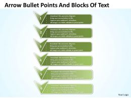 Business PowerPoint Templates arrow bullet points and blocks of text Sales PPT Slides