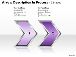 Business PowerPoint Templates arrow description of 2 stage process Sales PPT Slides