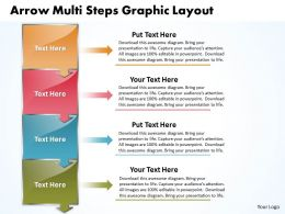 Business PowerPoint Templates arrow multi slide numbers graphic layout Sales PPT Slides