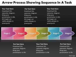 Business PowerPoint Templates arrow process showing sequence task Sales PPT Slides