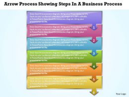 Business PowerPoint Templates arrow process showing steps Sales PPT Slides