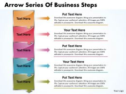 Business PowerPoint Templates arrow series of steps Sales PPT Slides 5 Stages