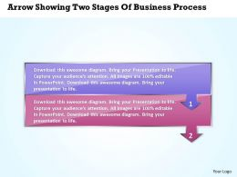 Business PowerPoint Templates arrow showing two stages of process Sales PPT Slides