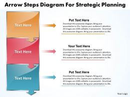 Business PowerPoint Templates arrow steps diagram for strategic planning Sales PPT Slides