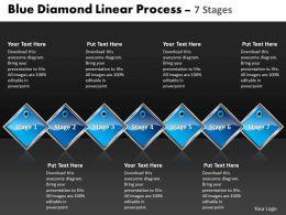 Business PowerPoint Templates blue diamond linear process 7 phase diagram ppt Sales Slides