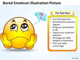 Business PowerPoint Templates bored emoticon illustration picture Sales PPT Slides