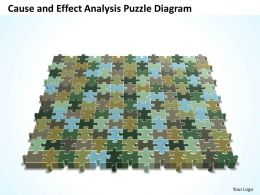 Business PowerPoint Templates cause and effect analysis Puzzle diagram Sales PPT Slides