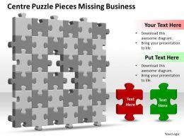 business_powerpoint_templates_centre_puzzle_pieces_missing_design_layout_sales_ppt_slides_Slide01
