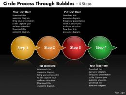 Business PowerPoint Templates circle process through bubbles 4 steps Sales PPT Slides