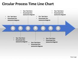 Business PowerPoint Templates circle process time line chart editable Sales PPT Slides