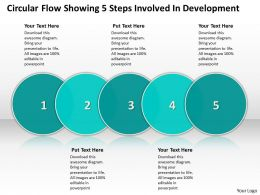 Business PowerPoint Templates circular flow showing 5 steps involved development Sales PPT Slides