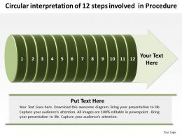 Business PowerPoint Templates circular interpretation of 12 steps involved procedure Sales PPT Slides