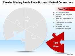 Business PowerPoint Templates circular missing puzzle piece factual connections Sales PPT Slides