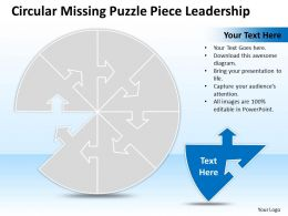 Business PowerPoint Templates circular missing puzzle piece leadership Sales PPT Slides