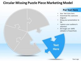 Business PowerPoint Templates circular missing puzzle piece marketing model Sales PPT Slides