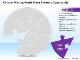 Business PowerPoint Templates circular missing puzzle piece oppurtunity Sales PPT Slides