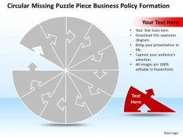 business powerpoint templates circular missing puzzle piece policy sales ppt slides